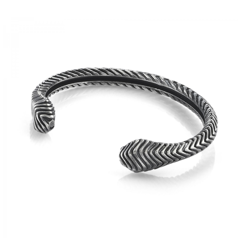 Oxidised Silver Serpi Cuff Bracelet