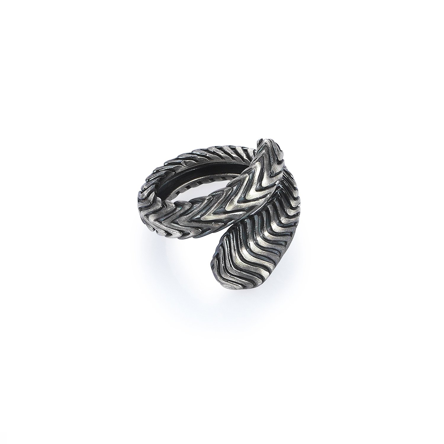 Oxidised Silver Serpi Ring