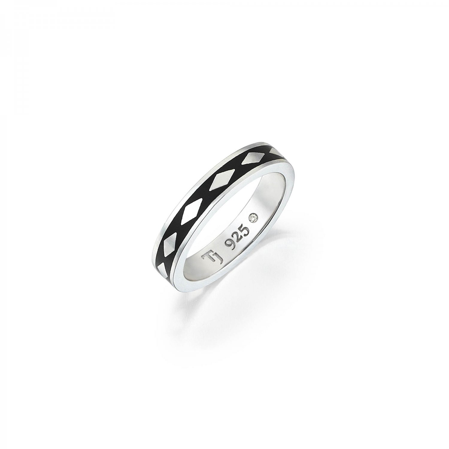 Cubic Snake Band in Silver - 5,30mm - BLACK