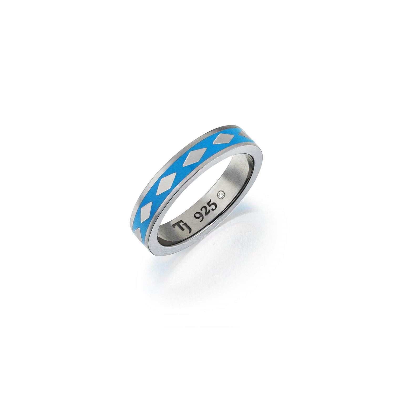Cubic Snake Band in Silver - 5,30mm - BLUE