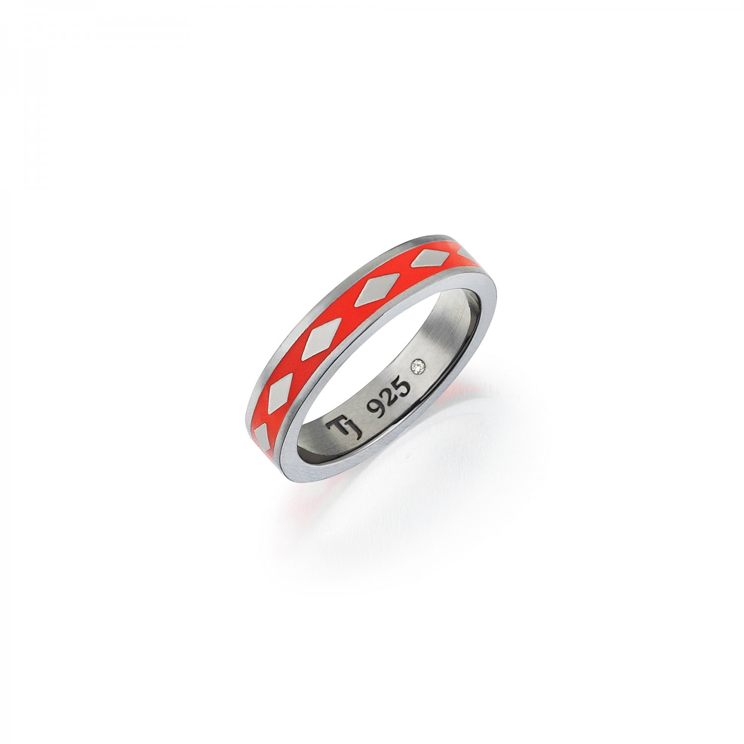 Cubic Snake Band in Silver - 5,30mm - ORANGE